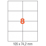 ETIQUETAS A4 100H. INETA 105x 74,2  800U. 01279 RECTA