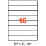 ETIQUETAS A4 100H. INETA 105x 37,1  1600U. 01274 RECTA