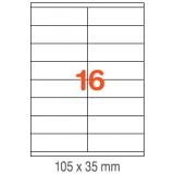 ETIQUETAS A4 100H. INETA 105x 35  1600U. 01287 RECTA