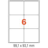 ETIQUETAS A4 100H. INETA  99,1X 93,1  600U. 02421 CANTOS ROMOS