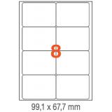 ETIQUETAS A4 100H. INETA  99,1X 67,7  800U. 02420 CANTOS ROMOS