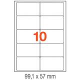 ETIQUETAS A4 100H. INETA  99,1X 57  1000U. 02411 CANTOS ROMOS