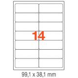 ETIQUETAS A4 100H. INETA  99,1X 38,1  1400U. 02419 CANTOS ROMOS
