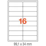 ETIQUETAS A4 100H. INETA  99,1X 34  1600U. 02418 CANTOS ROMOS