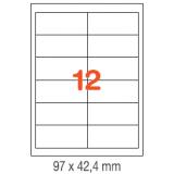 ETIQUETAS A4 100H. INETA  97X 42,4  1200U. 01288 RECTA
