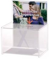 BUZON DE SUGERENCIAS SIN CERRADURA 175X220X285MM