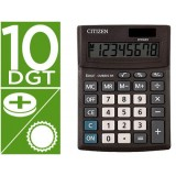 CALCULADORA CITIZEN SOBREMESA CMB1001-BK BUSINESS LINE ECO EFICIENTE SOLAR Y PILAS 10 DIGITOS 136X100X32 MM