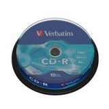 CD-R 700MB/80MIN PACK  10 VERBATIM - CANON LPI 0,80€ INCLUIDO
