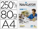 PAPEL A4  80 GR. NAVIGATOR HOME PACK 250 H. - MULTIFUNCIONAL CIE 169 OPACIDAD 95%