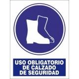 SEÑAL PVC A4 USO OBLIGATORIO CALZADO DE SEGURIDAD