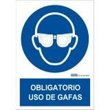 SEÑAL PVC A4 USO OBLIGATORIO GAFAS DE SEGURIDAD