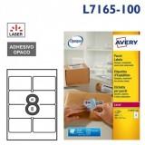 ETIQUETAS AVERY A4 BLANCA 99,1x67,7 MM C.ROMOS CAJA 100H 800 UDS BLOCKOUT