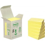 NOTAS ADHESIVAS POST-IT 100 H. RECICLADO 38x51 MM PACK 6 UNIDADES