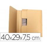 CAJA ENVIO LIBROS 400 x 290 x 75 mm KRAFT  PACK 5 UNIDADES