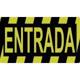 """SEÑALIZACION SUELO """"ENTRADA""""  40x23 CM COLOR AMARILLO/NEGRO"""