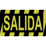 """SEÑALIZACION SUELO """"SALIDA""""  40x23 CM COLOR AMARILLO/NEGRO"""