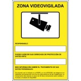 SEÑAL 210x297 PVC ZONA VIDEOVIGILADA
