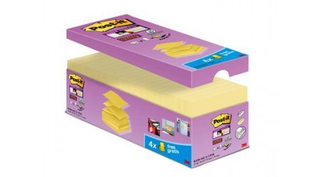 NOTAS ADHESIVAS POST-IT R330SS  Z-NOTES AMARILLO SUPER STICKY 16 + 4 REGALO