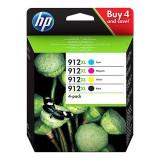 CARTUCHO H.P. Nº 912XL PACK 4 COLORES CMYN  HP OFFICEJET 8012, 8013, 8014,...  / HP OfficeJet Pro 8020,,... - .ORIGINAL