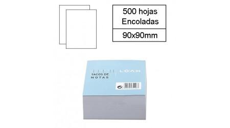 TACO PAPEL ENCOLADO BLANCO TAMAÑO 9X9 500 H.