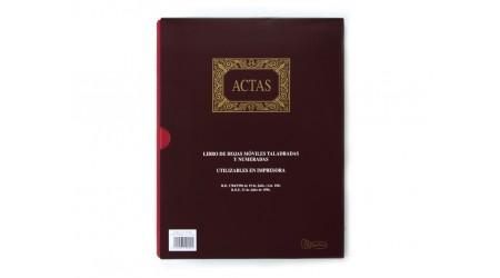 LIBRO DIN-A4 ACTAS 100 HOJAS MOVIBLES MIQUEL RIUS