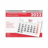 CALENDARIO PARED 2022 A4 (29,7 x 21 cm) ESPIRAL NUMEROS GRANDES DOHE FSC