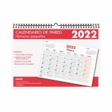 CALENDARIO PARED 2022 A4 (29,7 x 21 cm) ESPIRAL NUMEROS PEQUEÑOS DOHE FSC