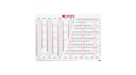 POSTER PLANIFICADOR PARED 2022 FINOCAM 680x485 MM MIXTO (COLUMNAS/FILAS) FSC
