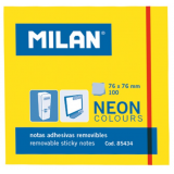 NOTAS ADHESIVAS MILAN 76X76 NEON AMARILLO 100 HOJAS