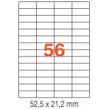 ETIQUETAS A4 100H. INETA  52,5x 21,2  5600U. 01284 RECTA