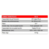 "ENCUADERNADORA ESPIRAL YOSAN 64U PASO 64  5:1"""