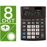CALCULADORA CITIZEN SOBREMESA CMB801-BK BUSINESS LINE ECO EFICIENTE SOLAR Y PILAS 8 DIGITOS 136X100X32 MM