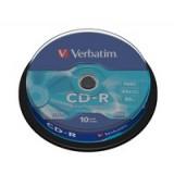 CD-R 700MB/80MIN PACK  10 VERBATIM - CANON LPI 0,80€ INCLUIDO
